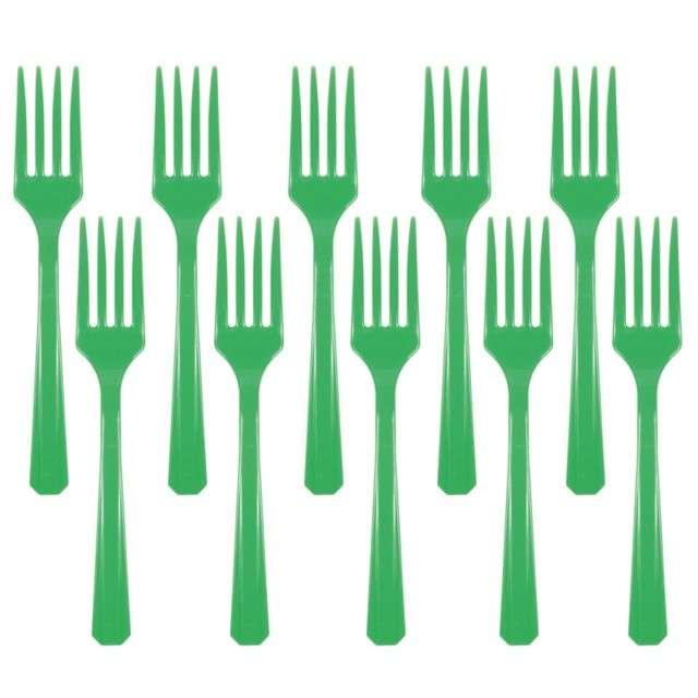 "Widelce plastikowe ""Amscan"", zielone, 16 cm, 10 szt"