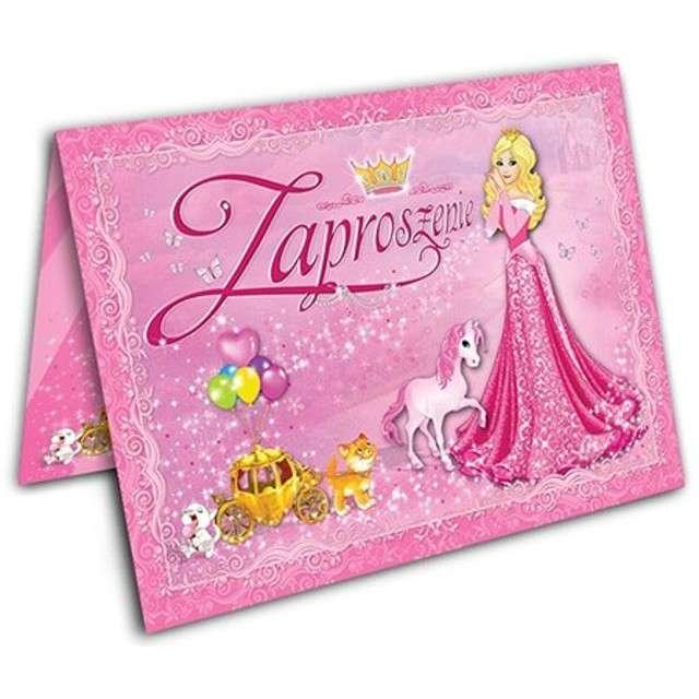 """Zaproszenia z kopertą """"Księżniczka"""", 10 szt"""
