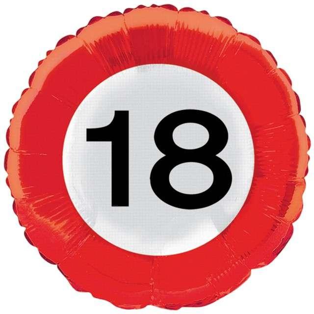 """Balon foliowy """"Urodziny 18"""", FOLAT, 18"""" RND"""