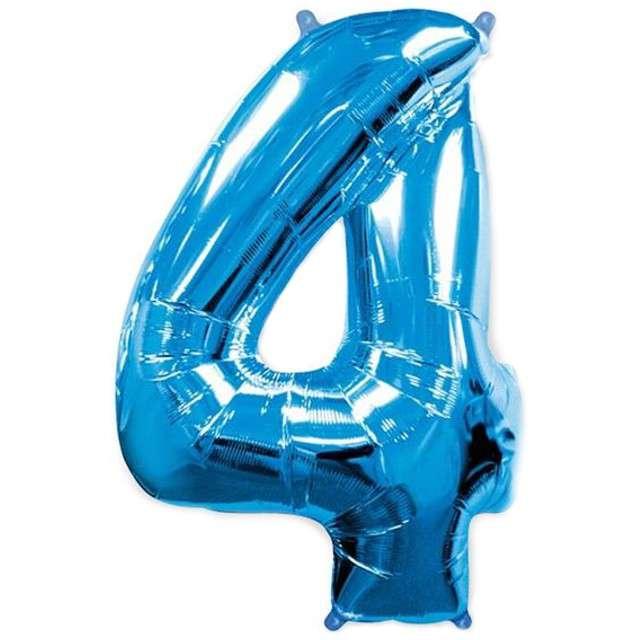 """Balon foliowy cyfra 4, niebieski, FLEXMETAL, 40"""""""
