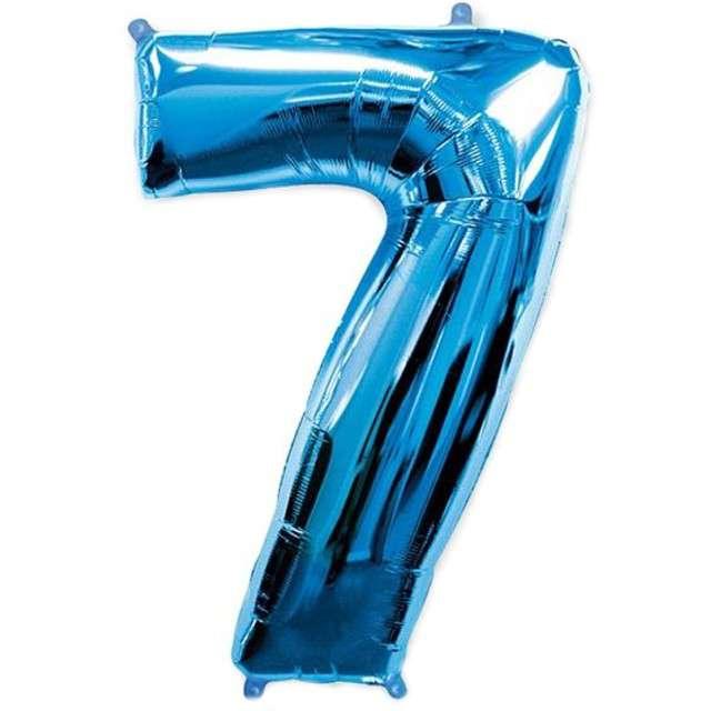"""Balon foliowy cyfra 7, niebieski, FLEXMETAL, 40"""""""