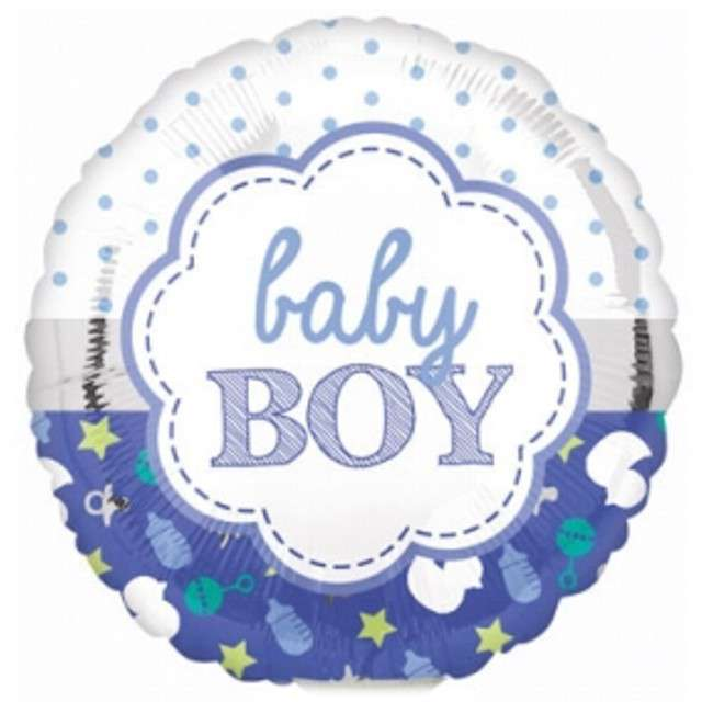 Balon foliowy Baby Boy niebieski AMSCAN 17 RND