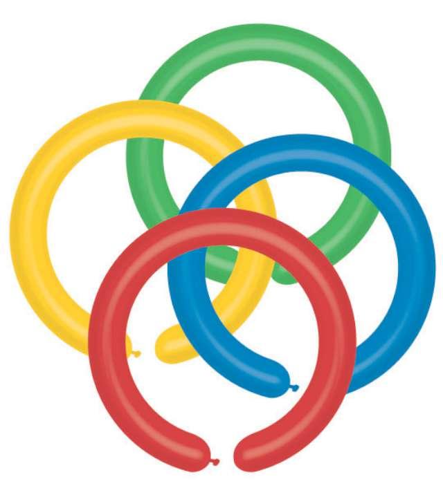 """Balony """"Modeliny 160"""", pastel mix, GEMAR, 100 szt"""
