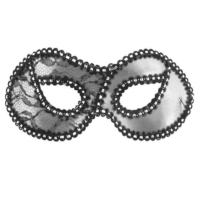 """Maska karnawałowa """"Dama z koronką"""", srebrna"""