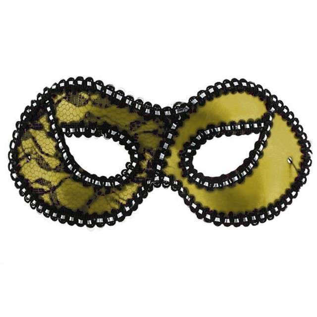 """Maska karnawałowa """"Dama z koronką"""", złota"""