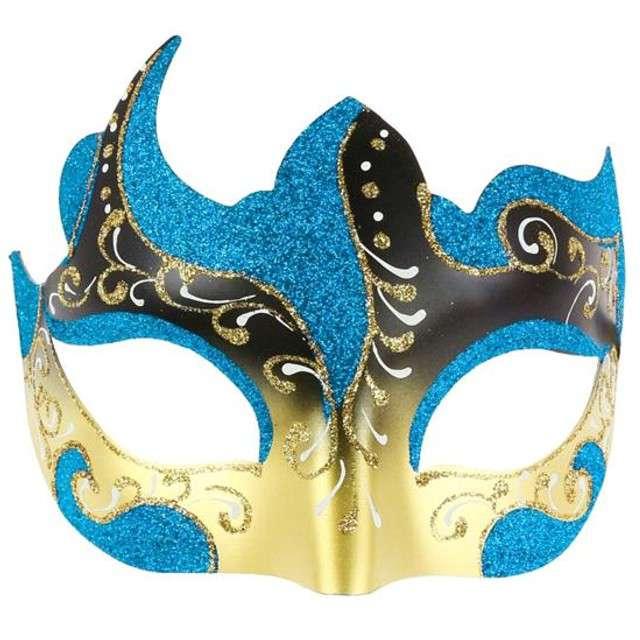 """Maska karnawałowa """"Zatańcz ze mną"""", niebieska"""