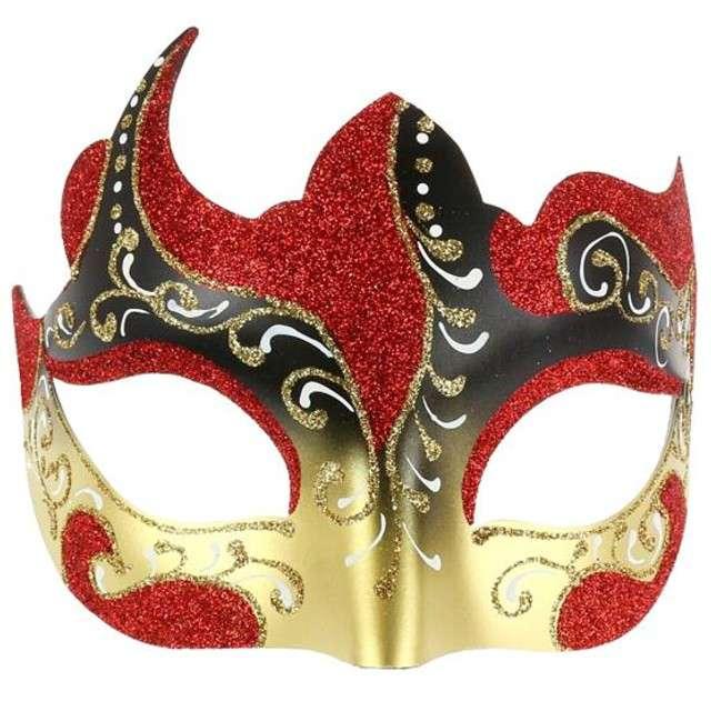 """Maska karnawałowa """"Zatańcz ze mną"""", czerwona"""
