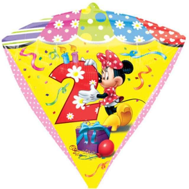 """Balon foliowy """"Minnie Mouse 2 urodziny"""", AMSCAN, 17"""" DMZ"""