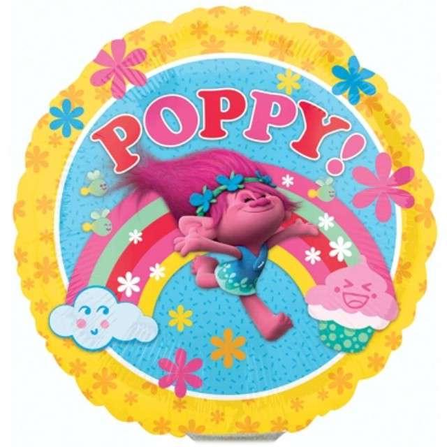 """Balon foliowy """"Trolls Poppy"""", AMSCAN, 9"""" RND"""