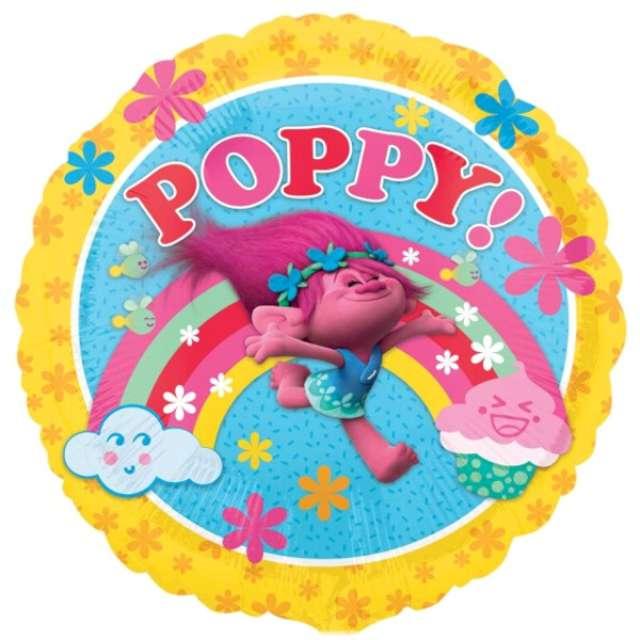"""Balon foliowy """"Trolls Poppy"""", AMSCAN, 18"""" RND"""