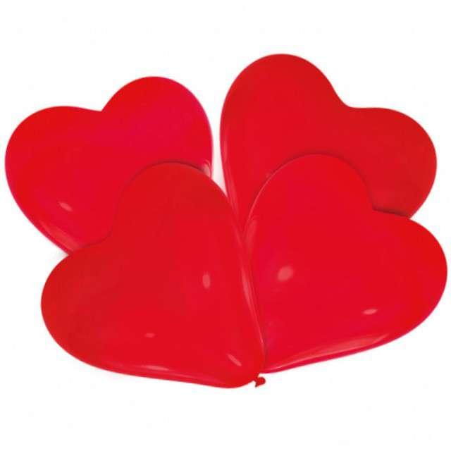 """Balony """"Lovely Moments - Serca """", czerwony, AMSCAN, 12"""" 4 szt"""