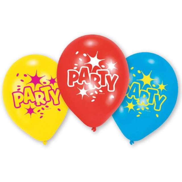 """Balony """"Party 2"""", 9"""", AMSCAN, mix pastel, 6 szt"""