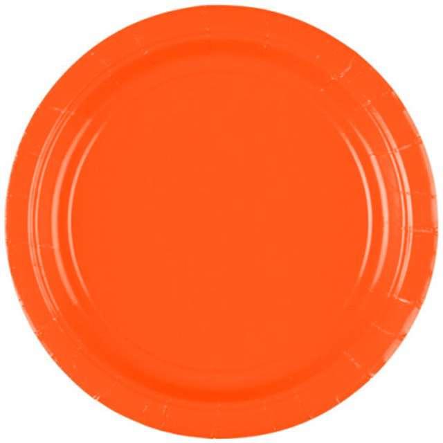 """Talerzyki papierowe """"Premium AMSCAN S"""", pomarańczowe, 17,7 cm, 8 szt"""