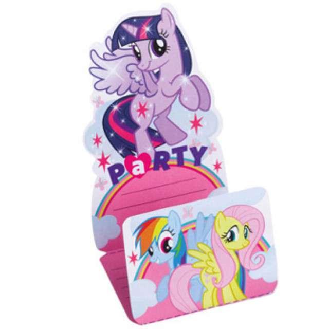 """Zaproszenia z kopertą """"My Little Pony"""", 8 szt"""