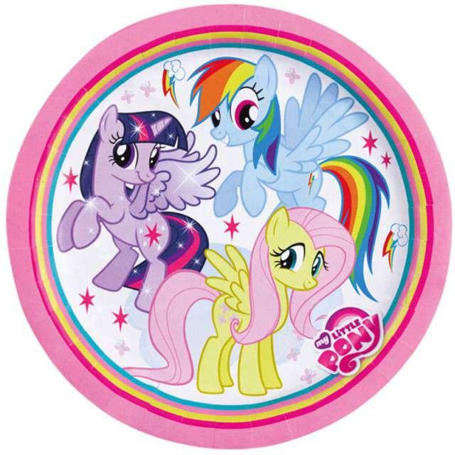 """Talerzyki papierowe """"My Little Pony"""", 23 cm, 8 szt"""