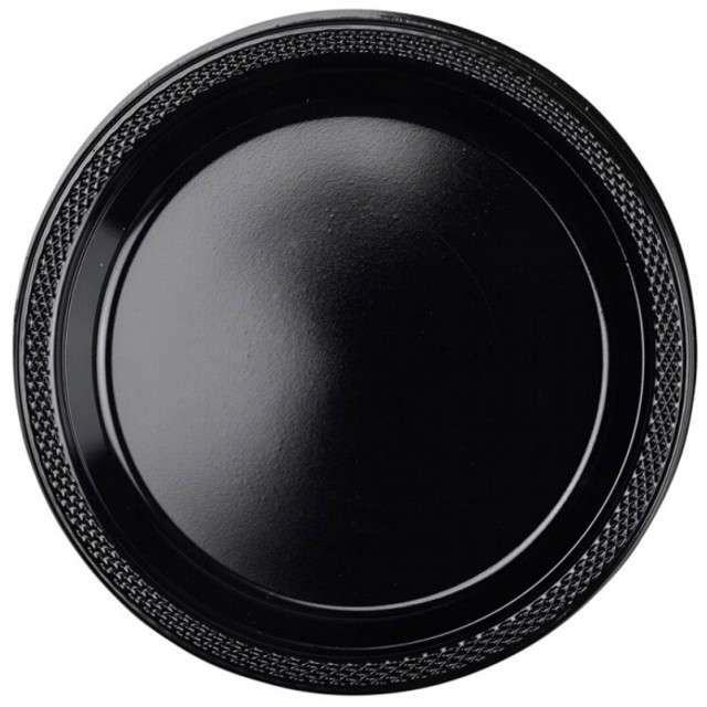 """Talerzyki plastikowe """"Amscan M"""", czarne, 17,7 cm, 10 szt"""