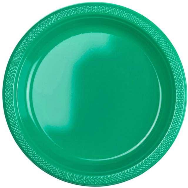 """Talerzyki plastikowe """"Amscan L"""", zielone, 22,8 cm, 10 szt"""