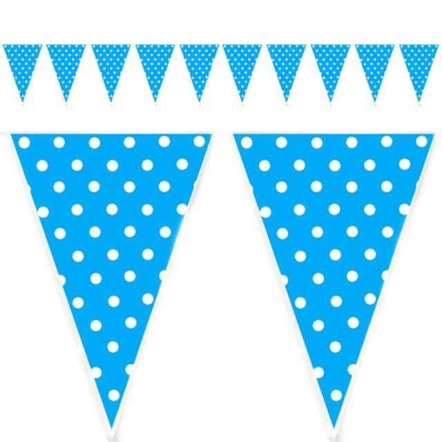 "Baner flagi ""Kropki"", błękitny, 200 cm"