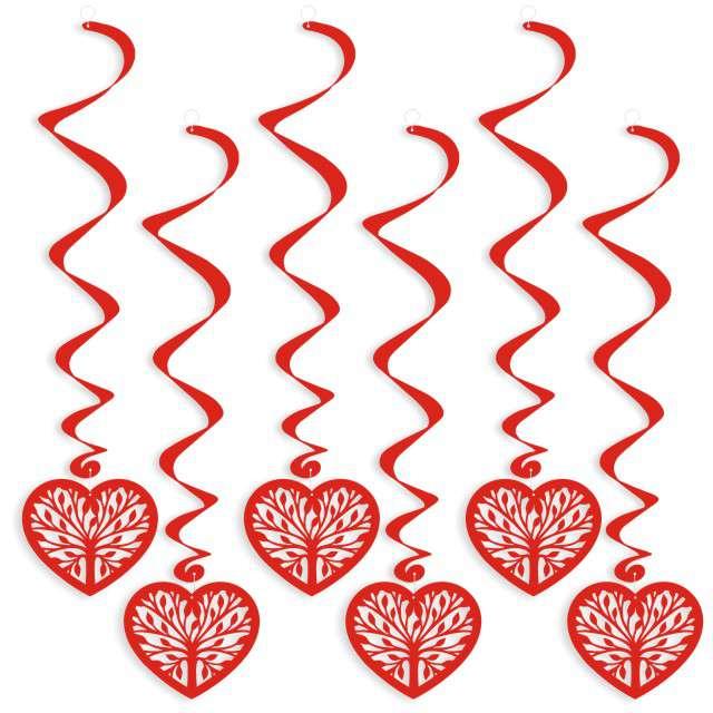 "Świderki wiszące ""Leaf Hearts"", 6 szt"
