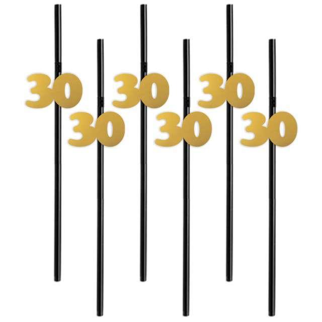 Słomki 30 21cm złote 6szt