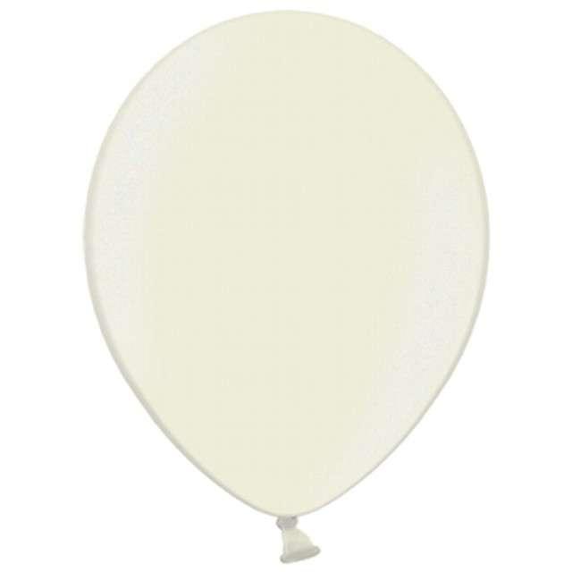 Balony Metallic kremowe 10 STRONG 100szt