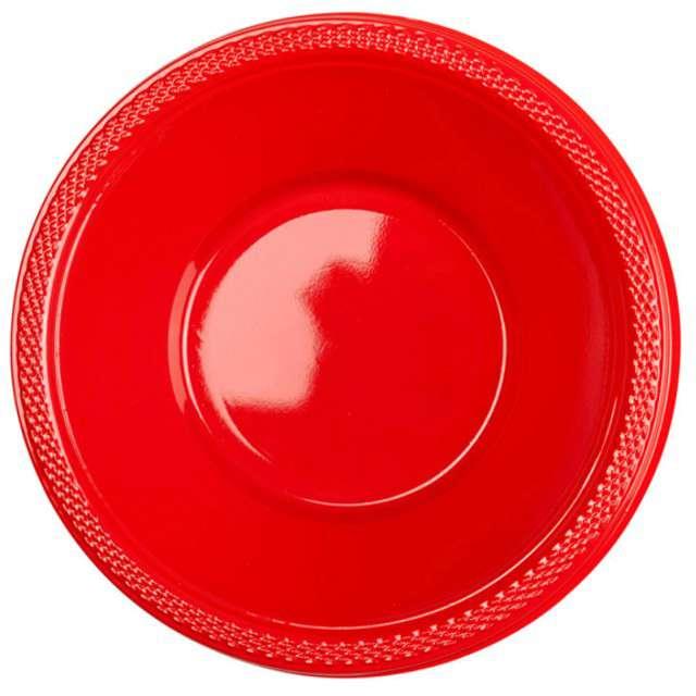 """Miska plastikowa """"Diamond"""", czerwona, 355 ml, 10 szt"""