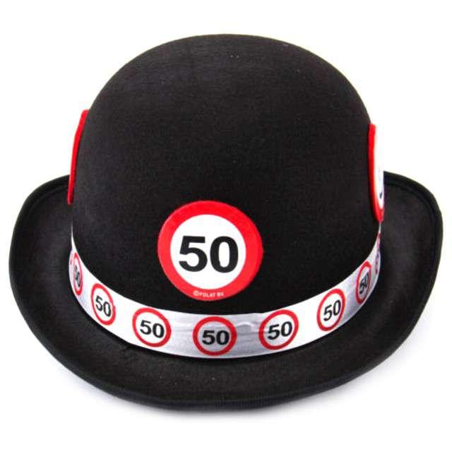 """Kapelusz """"Urodziny 50"""", czarny"""