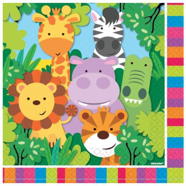 "Serwetki ""Jungle Animals 2"", AMSCAN, 33 cm, 16 szt"