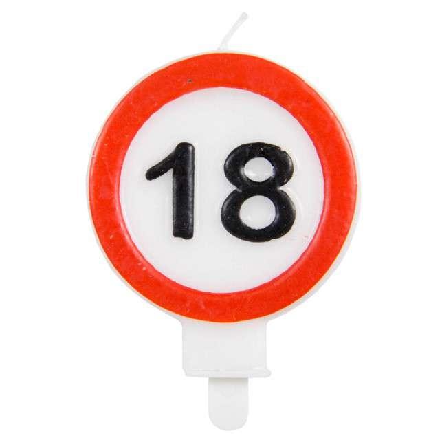 """Świeczka na tort """"18"""", FOLAT, znak, 6 cm"""
