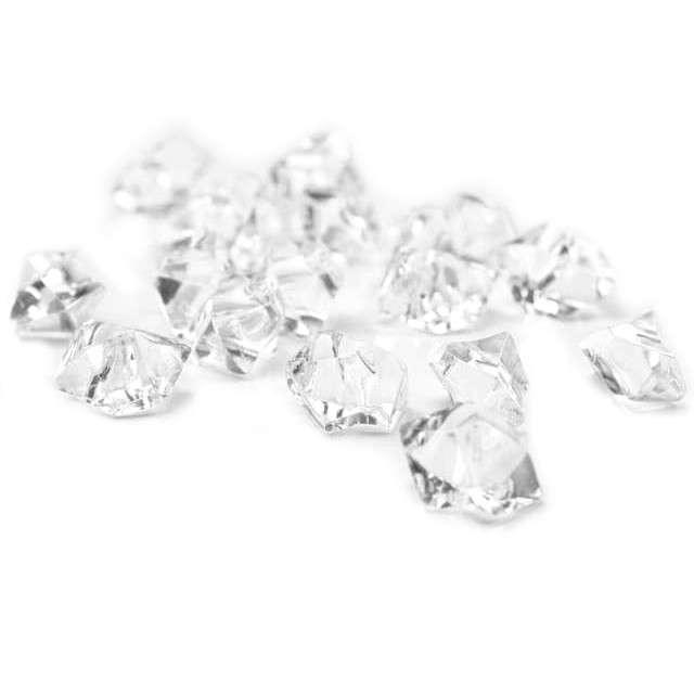 """Konfetti """"Kryształowy lód"""", bezbarwny, 25 mm, 50 szt"""
