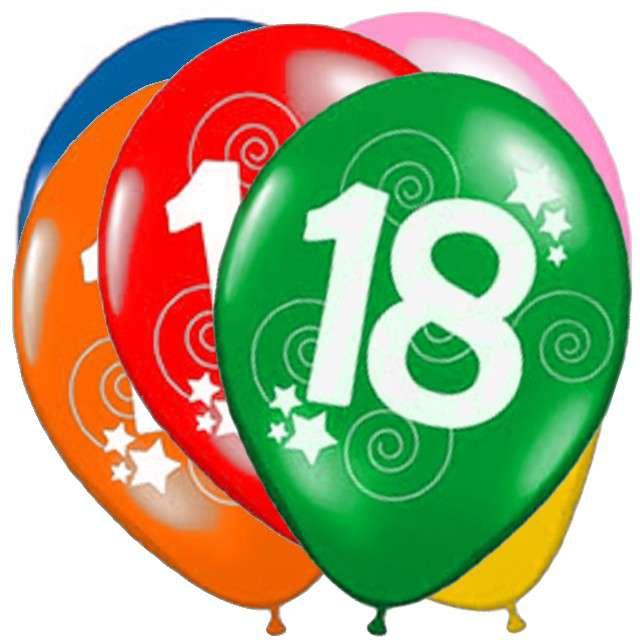 "Balony ""18"", pastel mix, FUNNY FASHION, 12"", 12 szt"