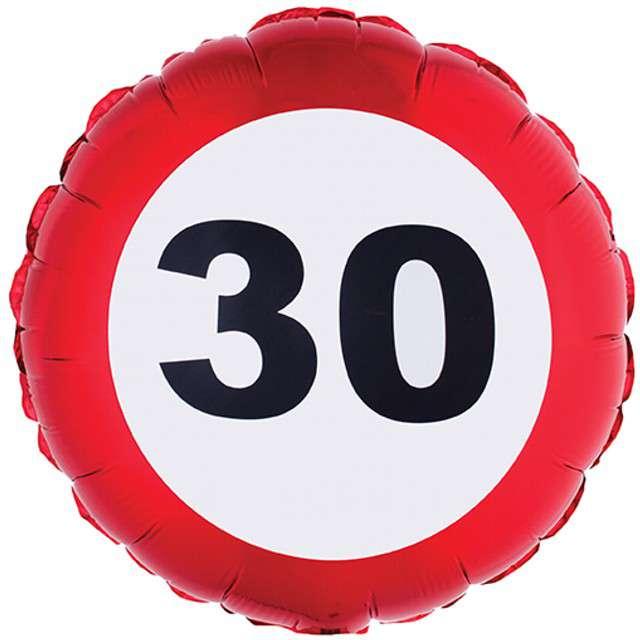 Balon foliowy Urodziny 30 Traffic Birthday Funny Fashion 18 RND
