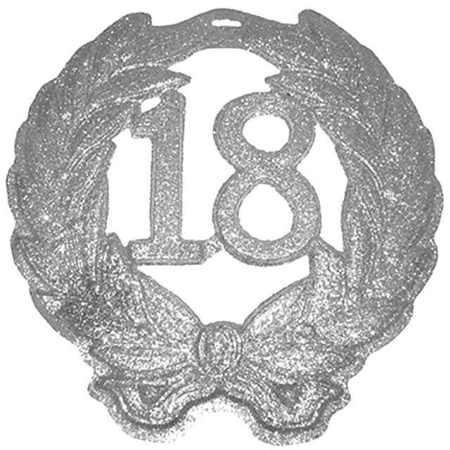 """Dekoracja 3D """"18 urodziny"""", FUNNY FASHION, 42x44 cm"""