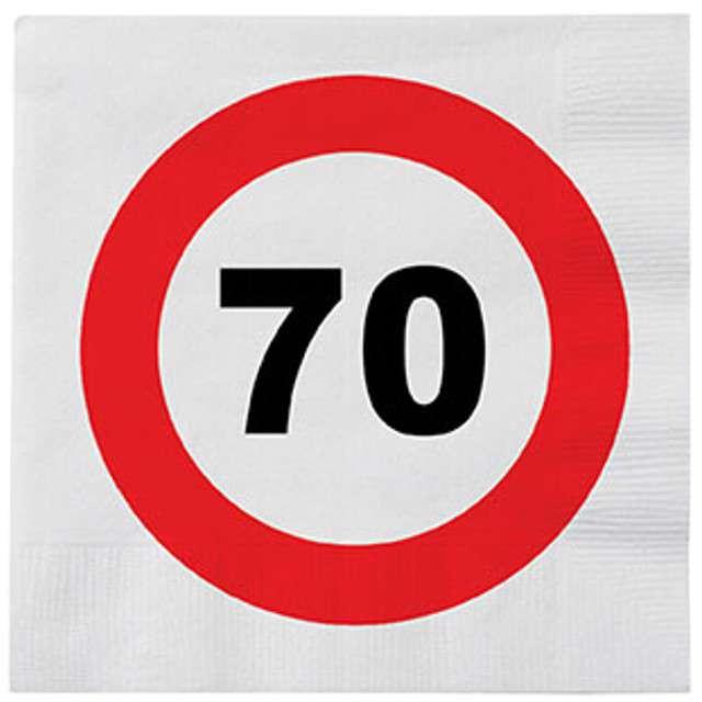 "Serwetki ""70 Traffic Birthday"", 33 cm, Funny Fashion, 16 szt"