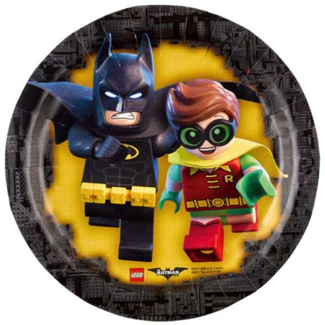 """Talerzyki papierowe """"Lego Batman"""", 18 cm, 8 szt"""