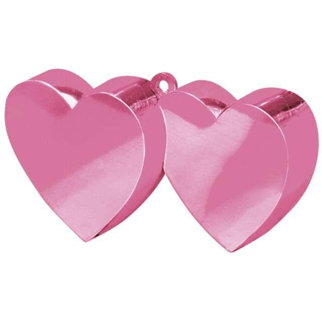 Obciążnik do balonów, Dwa serca, różowe
