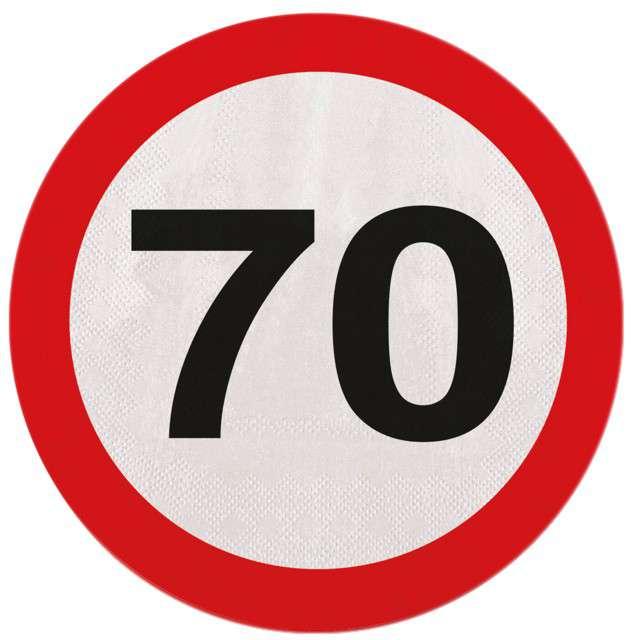 """Serwetki 33 cm, """"70 ZNAK"""", 20 szt"""