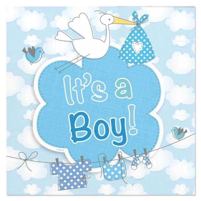 """Serwetki """"Its a Boy"""", 25 cm, Folat, 20 szt"""