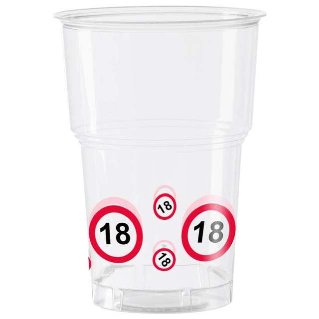 "Kubeczki plastikowe ""18 Traffic Birthday"", 350 ml, 10 szt"
