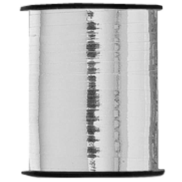 "Wstążka do balonów ""Classic Metalic U91"", srebrna, UNIQUE, 0,5 cm x 91m"