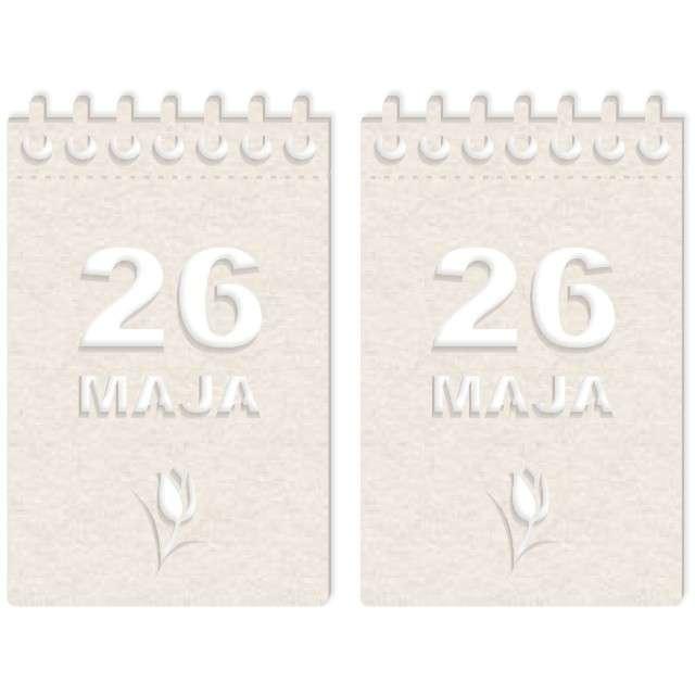 """Scrapki beermata """"Kalendarz 26 maja"""", 45x71 mm"""