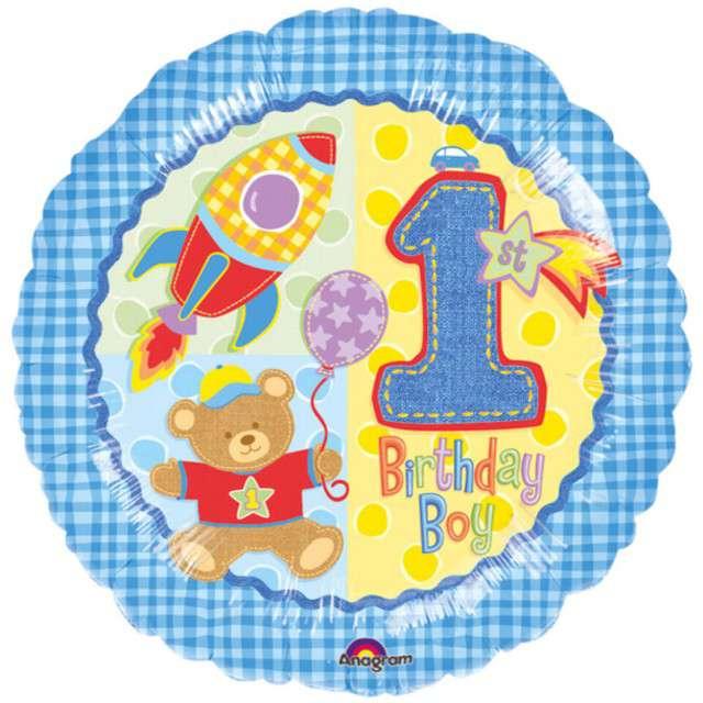 Balon foliowy Birthday Boy 1 AMSCAN 18 CIR