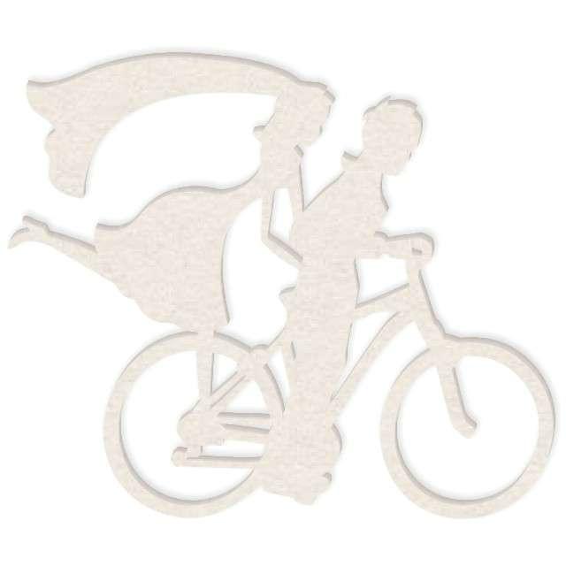 "Scrapki beermata ""Młoda Para na rowerze"", 90x76 mm"