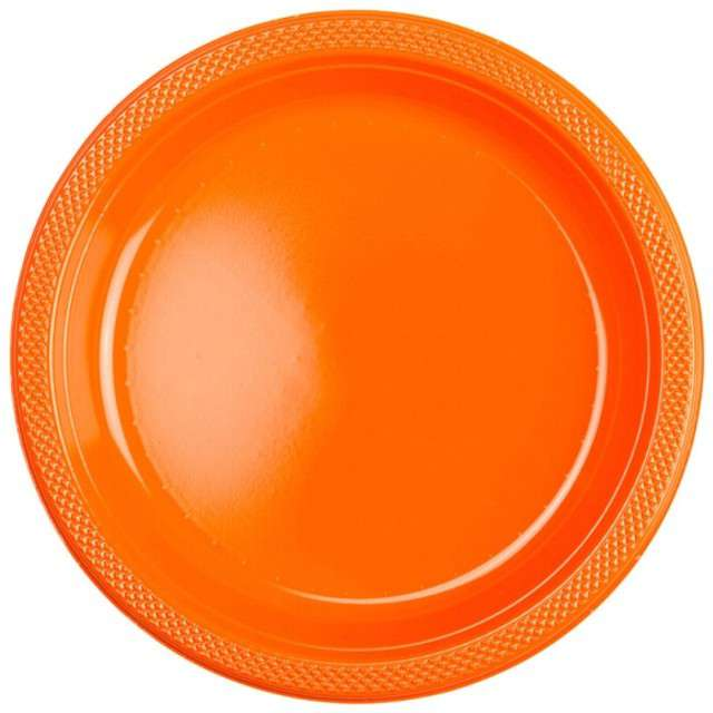 """Talerzyki plastikowe """"Amscan M"""", pomarańczowe, 17,7 cm, 10 szt"""