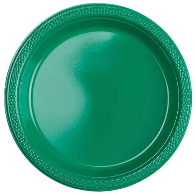 """Talerzyki plastikowe """"Amscan M"""", zielone, 17,7 cm, 10 szt"""