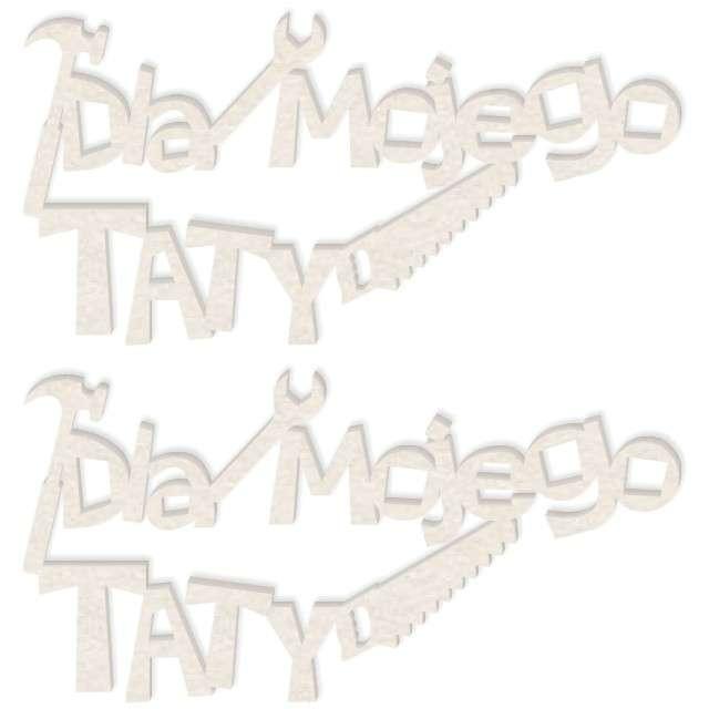 """Scrapki beermata """"Napis Dla mojego TATY"""", 92x46 mm, 2 szt"""