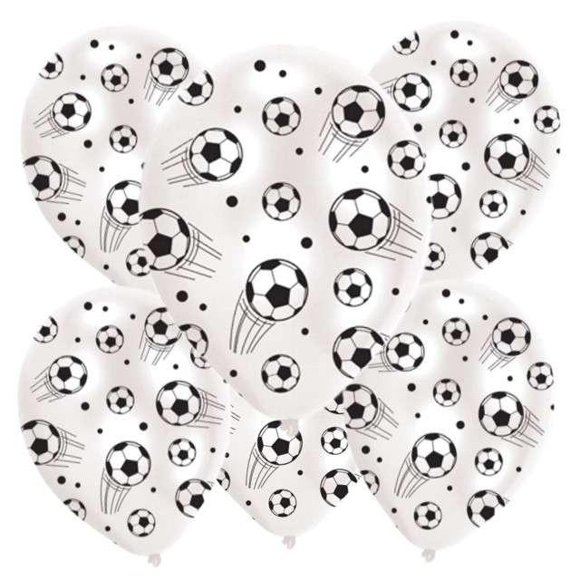 """Balony 11"""", """"Piłki nożne"""", AMSCAN, Pastel White, 6 szt"""