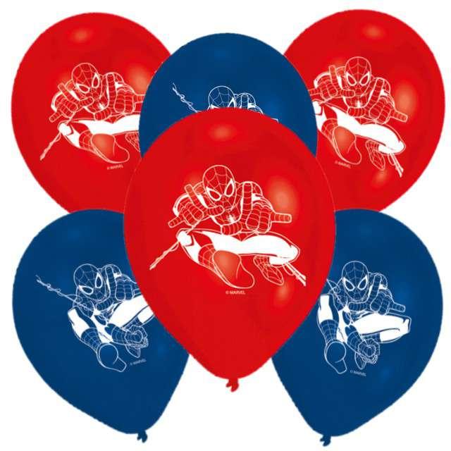 """Balony """"Spider-Man"""", pastel mix, AMSCAN, 9"""", 6 szt"""