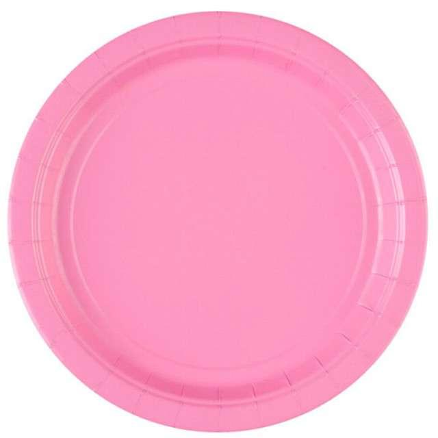 """Talerzyki papierowe """"Premium AMSCAN L"""", różowe jasne, 22,8 cm, 8 szt"""