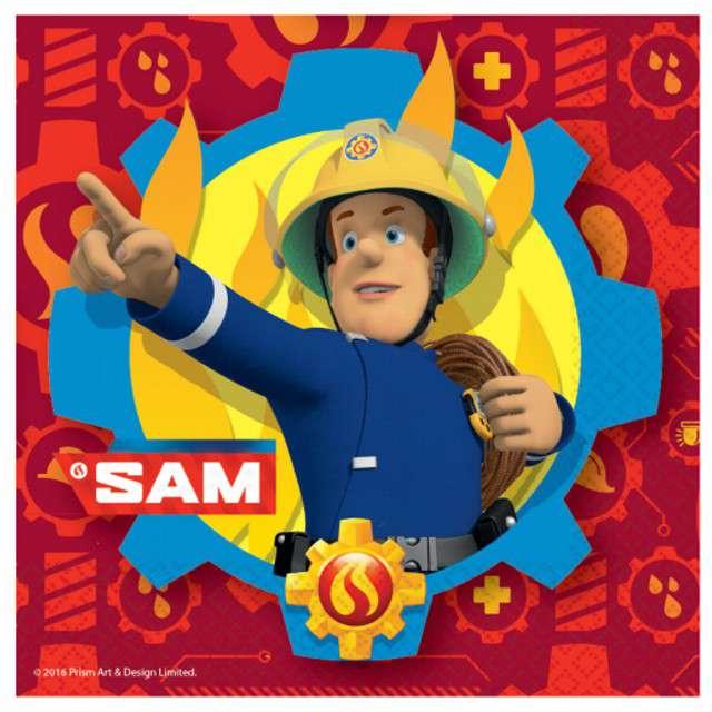 "Serwetki ""Strażak Sam"", AMSCAN, 33 cm, 20 szt"